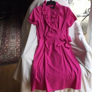 Lafayette Hot Pink Cotton Stretch Dress Never Used